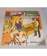 Barbie Barbies Neighborhood See Hear Read Book 1981 Mattel Kid Stuff 963 - $7.95