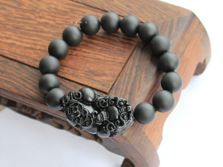 Free Shipping -  '' good luck '' Amulet  Tibet natural black STONE  '' PI YAO''