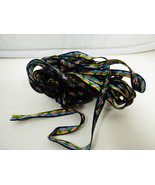 """Woven Jacquard Tappestry Ribbon Trim  Black Floral 3/8"""" Wide 9.25 yards - $29.70"""