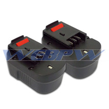 TWO Power Tool Batteries For BLACK & DECKER 14.4V 499936-34 499936-35 Ba... - $55.39