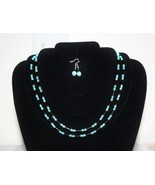 Onyx and Turquoise Necklace and Earrings - $41.00
