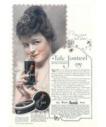 1928 Talc Jonteel Face Powder Cream print ad - $10.00