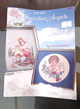"Vintage 1994 Cross Stitch Pattern Book  ""Guardian Angels""   #090115-D1 - $3.79"