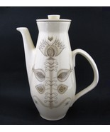 Vintage Franciscan Pottery Earthenware SPICE Coffee Pot Cream 1960s Flor... - $39.59