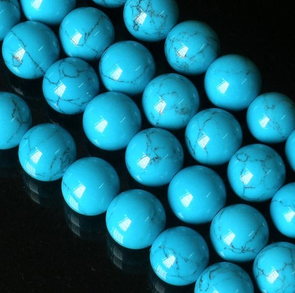 Free Shipping - 8.5 mm Tibetan natural Turquoise meditation yoga 108 Prayer Bead
