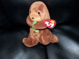 Ty Seaweed Beanie Baby with Tush Tags P.E. Pellets TAG IS CREASED - $34.99