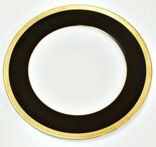 """Haviland Limoges Laque De Chine Gold Rim - Chocolat Dinner Plate, 10 7/8"""" D - $94.03"""