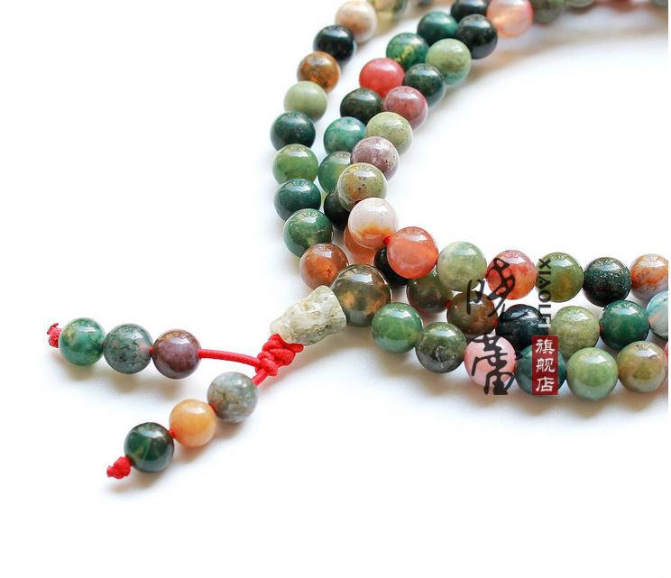 Free shipping - 8MM AAA Natural Bloodstone Mala  Meditation Yoga 108 beads Praye
