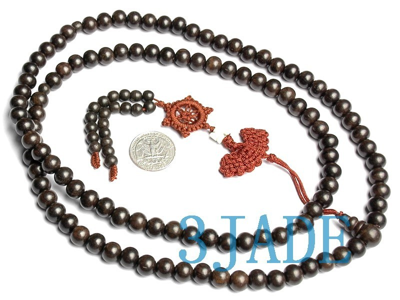 "Free Shipping - Tibetan Buddhism  47"" Natural Red Sandalwood  meditation yoga 10"