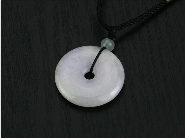 Free Shipping - Nice Natural Lavender Blessing Ring Jade Pendant  charm