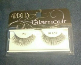 Ardell Glamour Lashes 105 Black False Eyelashes New - $9.90