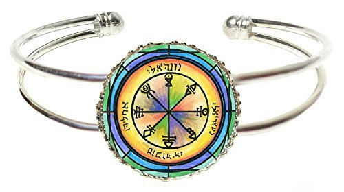 Solomons 1st Venus Seal for Friendship Silver Cuff Bracelet