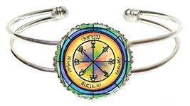 Solomons 1st Venus Seal for Friendship Silver Cuff Bracelet - $14.95