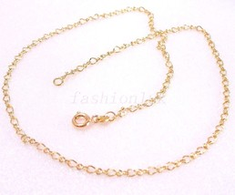 "18K Real Yellow Gold Plated Snake Chain Necklace 40cm 15.7 "" Part Xmas B... - $8.29"