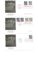 6 Fdc 1995 Us Fleetwood Flag Over Porch Memorial Day Americas Pride Heritage 495 - $13.86