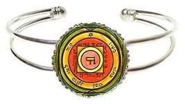 Solomons 5th Venus Seal for Inciting Love & Attraction Silver Cuff Bracelet - $14.95