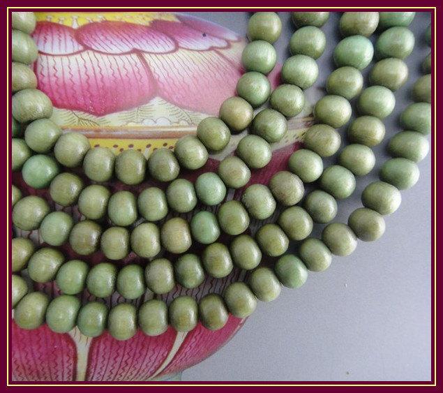 Free Shipping - 6mm Tibetan Natural Green sandalwood Mala meditation yoga 108  B