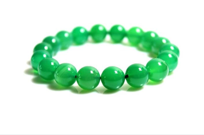 Free Shipping -  good luck  natural green agate meditation yoga Prayer Beads cha