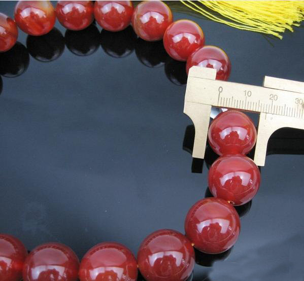 Free Shipping - AAA natural Red agate meditation yoga  Prayer beads charm Bracel