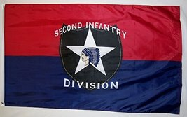 Second Infantry Division Flag 3' X 5' Indoor Outdoor Banner - $12.95