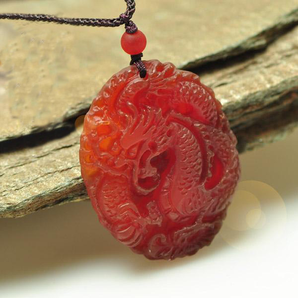 Free Shipping - good luck genuine Natural Red agate / Carnelian Carved sacred Dr