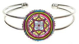 Solomons 4th Seal of Venus to Make One Come to You Silver Cuff Bracelet - $14.95
