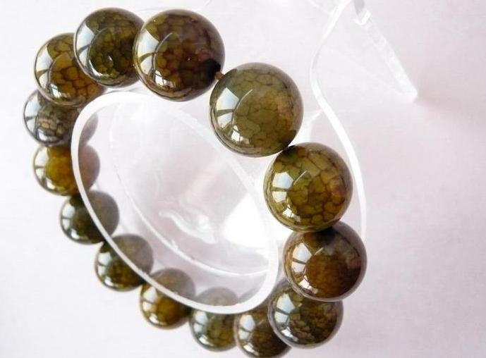 Free Shipping - PERFECT 100% Natural serpentine Prayer Beads charm bracelet / ba