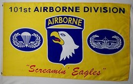 101st Airborne Screamin Eagles Flag 3' X 5' Indoor Outdoor Yellow Banner - $12.95