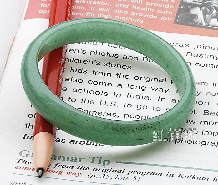 Free Shipping - custom size (diameter 58mm-62mm)..... Elegant  Natural Green Gra