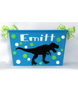 T-Rex Dinosaur, Toy box Personalized Basket, Waste Basket, Storage Bin, ... - $14.00