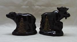 Vintage Rustic Bear & Moose Salt & Pepper Shaker Set - $13.00