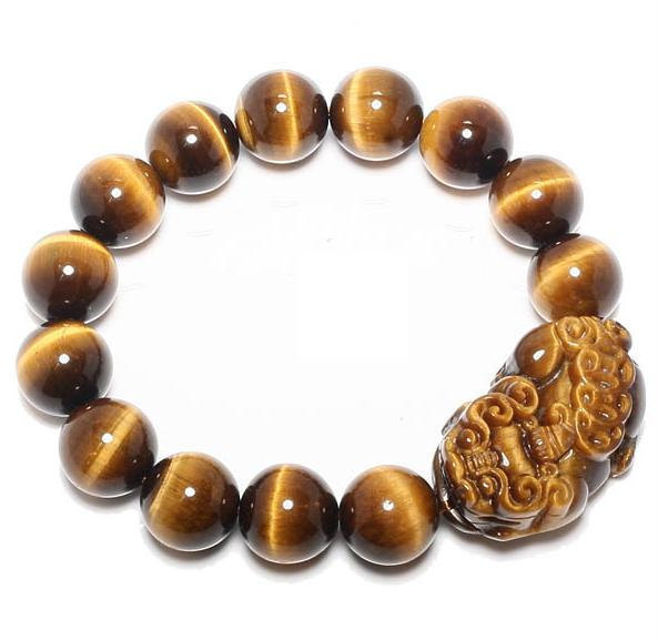 Primary image for Free Shipping -  good luck Natural Yellow tiger eye STONE Pi Yao meditation mant