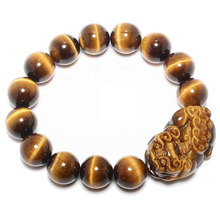 Free Shipping -  good luck Natural Yellow tiger eye STONE Pi Yao meditat... - $30.00