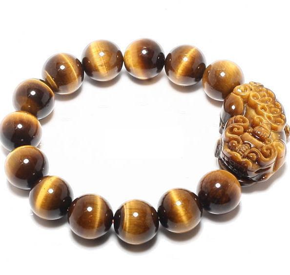 Free Shipping -  good luck Natural Yellow tiger eye STONE Pi Yao meditation mant