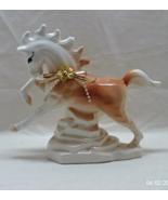 Vintage Palamino Horse Figurine // Ceramic Horse Statue // Decorative Horse - $14.00