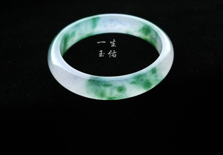 Free Shipping -  ( custom size diameter 52mm - 62mm)  Elegant Natural Green jade