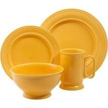 Butter Yellow 16 Piece Dinnerware Set Service For 4 - $126.99