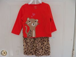 Carters 2 Piece Leopard Print Pajama Set Size 18 Months Girl's NEW LAST ONE - $19.99