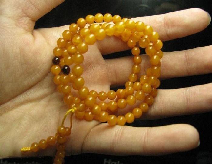 Free Shipping -  Tibetan Buddhism  natural yellow Agate meditation yoga 108 Pray