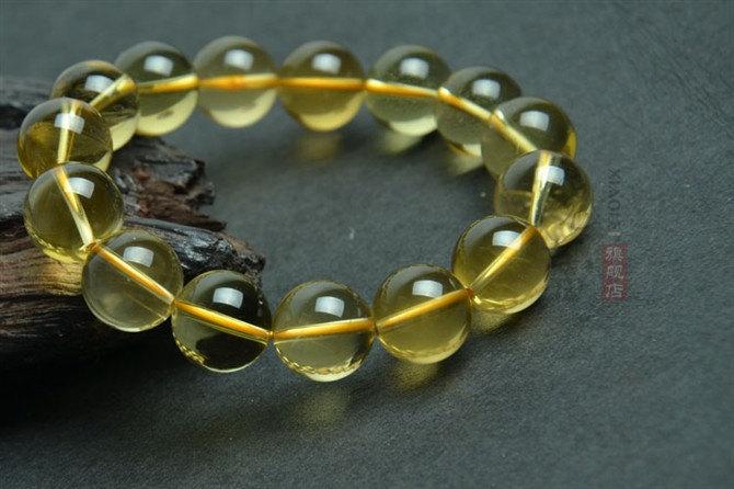 Free Shipping -15 mm beads  Tibetan  Natural yellow crystal / quartz  Meditation