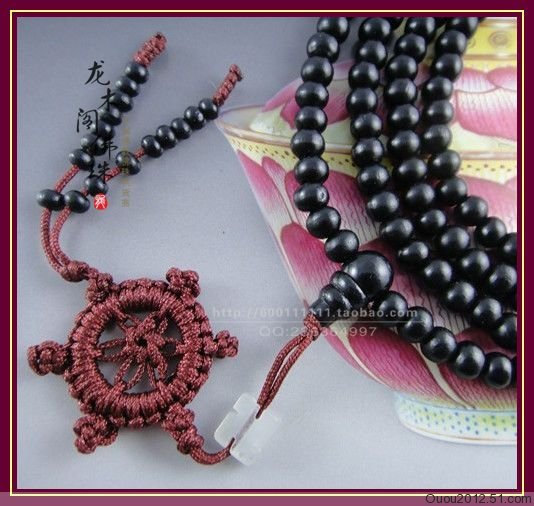 Free Shipping - 6 mm beads Tibetan  Natural black sandalwood  meditation yoga 21