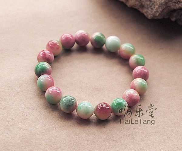 Free Shipping -  Natural Red Apple jade meditation yoga Prayer Beads charm brace