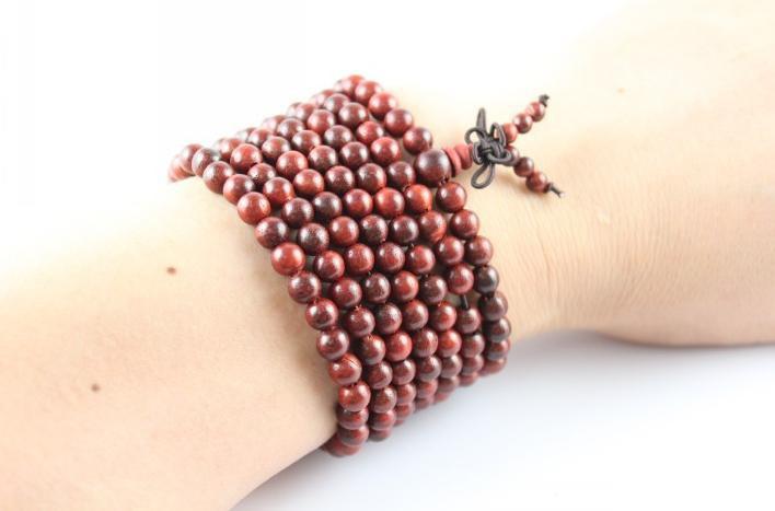 Free Shipping - 6mm Tibetan Natural Red sandalwood 216 beads meditation yoga Pra