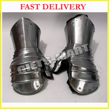 New Year Presents Medieval Functional Armor Battle Clamshell Mitten Gaun... - $139.99