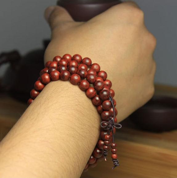Free Shipping -  8 mm 100% natural Red sandalwood  meditation yoga 108  Beads Pr
