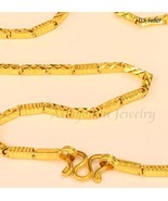"""22k solid gold SPARKLING necklace handmade from Thailand20"""" bb - $1,286.01"""