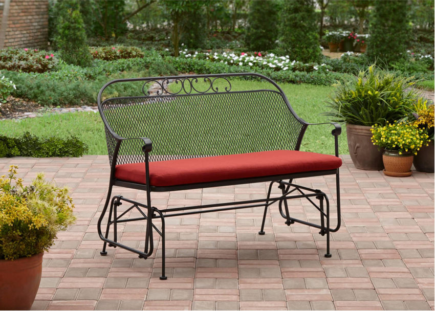 Red Outdoor Bench 2person Better Homes Gardens Clayton Court Glider Furniture Benches