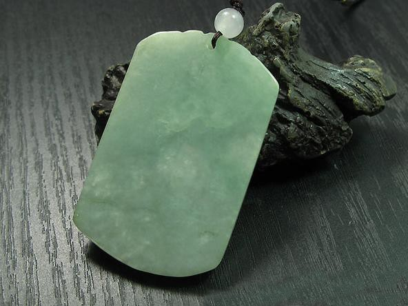 Free Shipping - PERFECT Natural Green jade Carving Dragon  Amulet Pendant charm