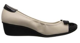 Women's Shoes Anne Klein DANAH  Casual Wedge Pumps Ivory Black - $49.49
