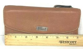 Fossil Brown Leather Clutch Wallet image 7